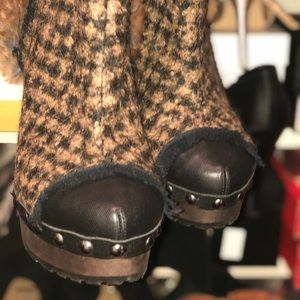 Stunning Chanel Fur Knee Boots with Toe Studding!